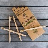 4er Packung – Natürliche Zahnbürsten aus Bambus by pandoo