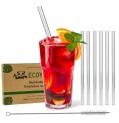 Glas-Strohhalme Trinkhalm Glas + Bürste 6St. 21,5cm   AvocadoStore